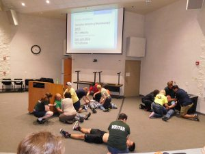 """For the Saturday morning """"announcement,"""" we had an knife attack in the lecture hall."""